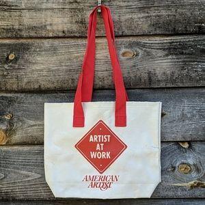 Vintage Artist at Work American Artist Tote Bag